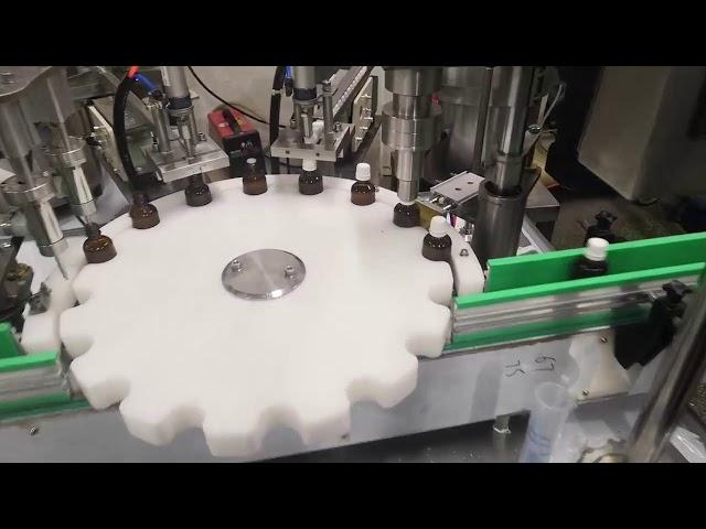 小さな液体ボトル充填機