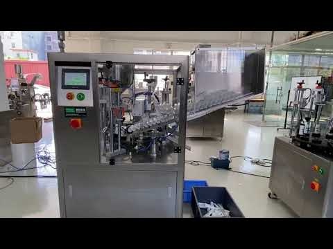 ハンドクリーム歯磨き粉のための自動プラスチックチューブ充填シール機