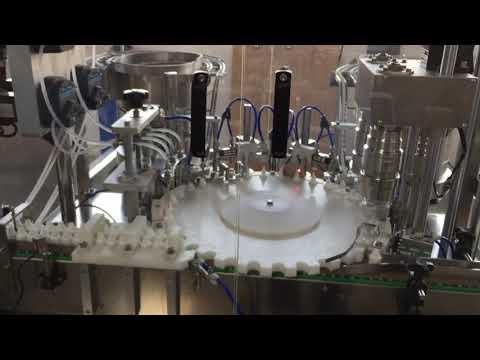 食品、ソース、化粧品産業の高精度ロータリーキャッピングマシン