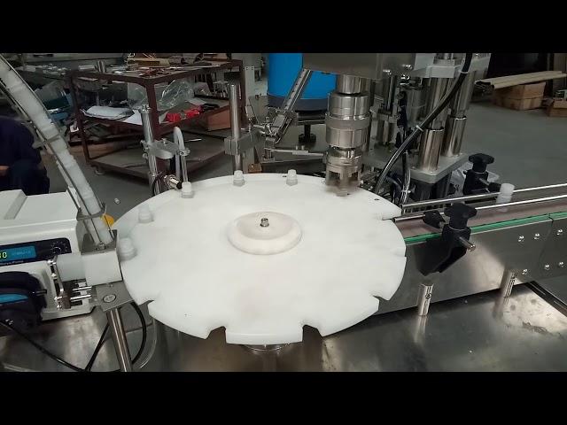 ホットセール全自動10ml 20ml 25ml試験管充填キャッピング包装機