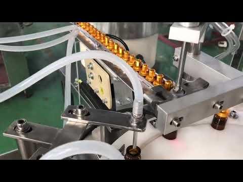 自動5-30mlガラススポイト小瓶点眼バイアルe液体充填キャッピングマシン
