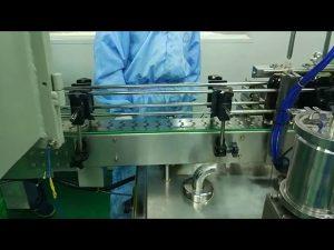 ラウンドボトル用の30mlから100mlのダブルトラック充填およびスクリューマシン