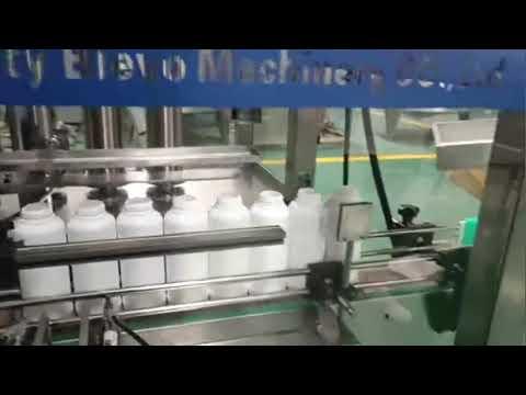 洗濯洗剤ボトル充填機、洗濯洗剤液製造ライン