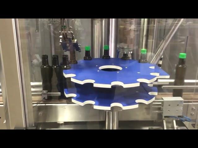 roppアルミスクリューキャップガラスボトル用自動キャッピングシール機