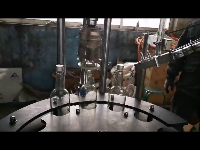 商業用自動アルミロップキャップキャッピングおよびシーリングマシン