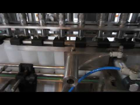 自動液体洗剤および消毒液充填機