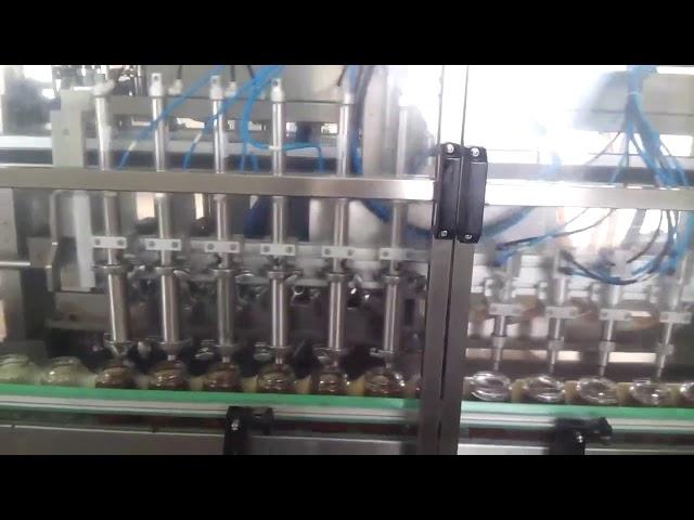 自動ガラスハニージャーヨーグルト充填シール機