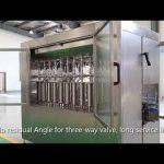 自動ピストンペットガラスボトルオイル液体充填キャッピングラベル付け機械ライン